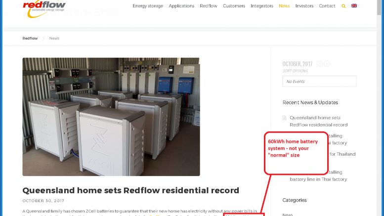 Redflow announces residential 60kWh battery installation